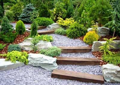 Rock stone garden
